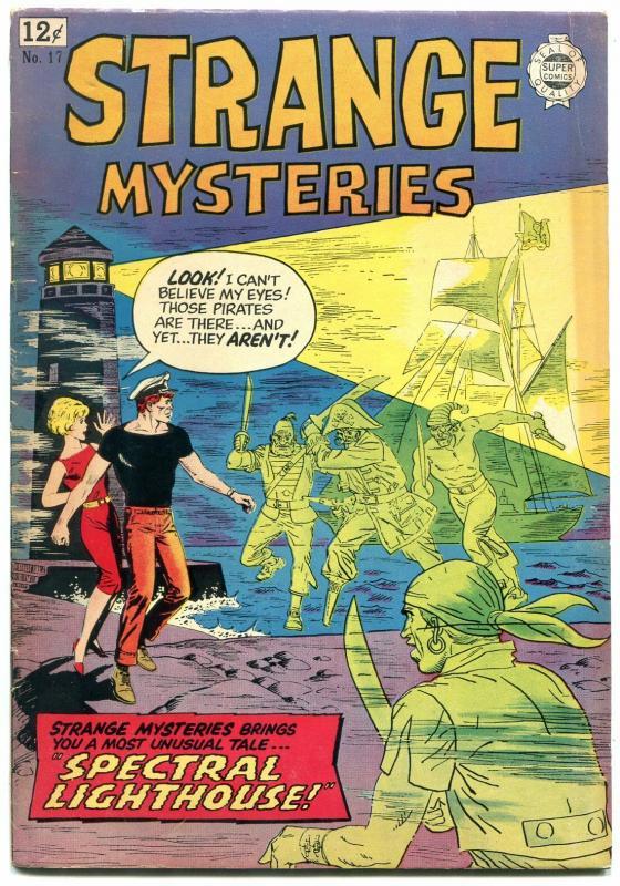 Strange Mysteries #17 1964- Super Golden Age horror reprints- FN
