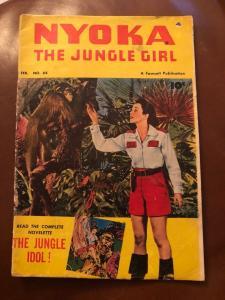 Nyoka The Jungle Girl # 64 VG/FN Fawcett Comic Book 1952 Golden Age Photo C JL17