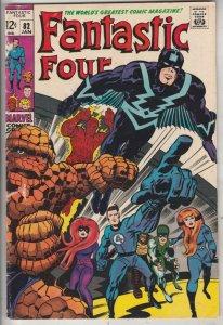 Fantastic Four #82 (Jan-69) FN+ Mid-High-Grade Fantastic Four, Mr. Fantastic ...
