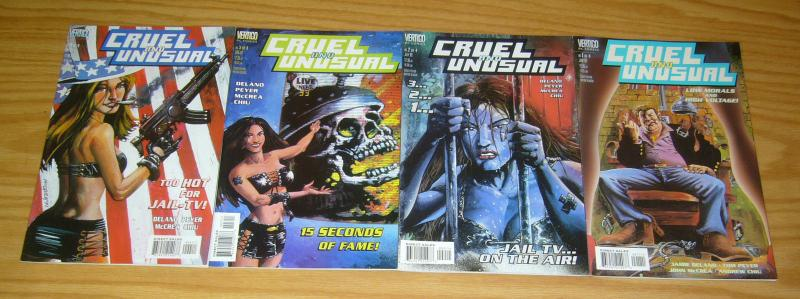Cruel and Unusual #1-4 VF/NM complete series - jamie delano - john mccrea 2 3