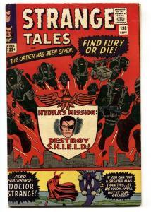 STRANGE TALES #136 comic book 1965 JACK KIRBY-NICK FURY-SILVER AGE-MARVEL VG+