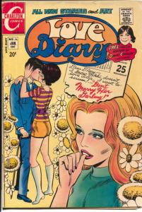 Love Diary #76 1972-Charlton-David Cassidy poster-spicy romance-sports cars-/VG
