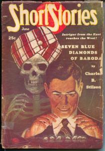 Short-Stories 6/1952-Skull horror cover-Oren Waggener -hero pulp-The Whip-G/VG