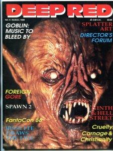 Deep Red Magazine #6 1989- Gore- Splatter - GOBLIN FN