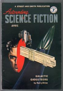 Astounding Science Fiction British Edition 4/1952-sci-fi pulp fiction-VG