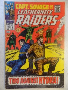 CAPTAIN SAVAGE AND HIS LEATHERNECK RAIDERS # 3 MARVEL WAR ACTION