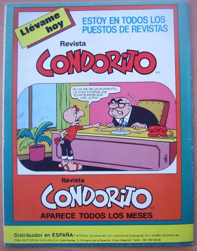 Condorito Comic edicion PreUno Espana 1981