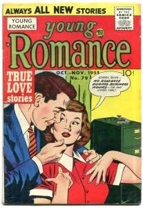 YOUNG ROMANCE V.8 #7 1955-TRUE LOVE STORIES-JACK KIRBY VG
