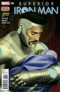 Superior Iron Man #6 VF/NM; Marvel | save on shipping - details inside