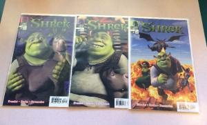 Shrek 1-3 Complete Near Mint Lot Set Run