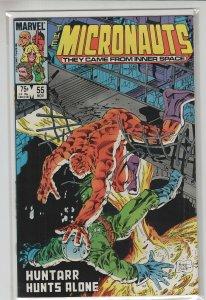 MICRONAUTS (1979 MARVEL) #55 VF+ A20398