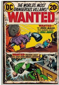 WANTED (1972)  5 VG  Jan 1973 Dollman, Green Lantern