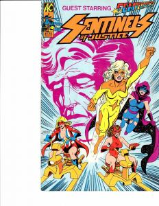 Lot Of 2 Comic Books Sentinels of Justice #5 and Team Anarchy #4 ON3