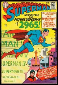 SUPERMAN #181 1965-DC COMICS-2965 FUTURE SUPERMAN COVER VG