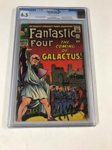 Fantastic Four 48 Cgc 6.5 Ow/w Pages 1st Silver Surfer Galactus Marvel Silver