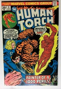 Human Torch #8 Marvel 1975 VF Bronze Age 1st Printing Comic Book