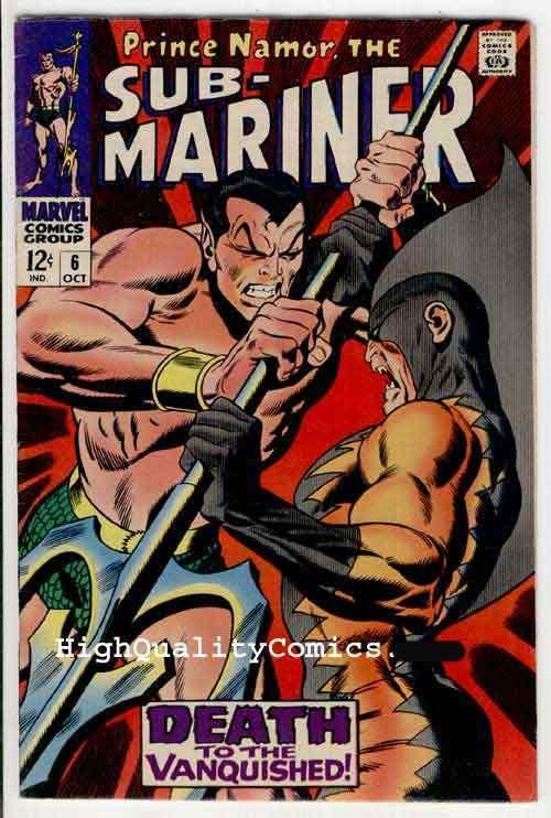 SUB-MARINER #6, VF+, Buscema,1968, Alantis,Tiger Shark, more Marvel in store