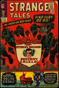 Strange Tales #136 1965- Nick Fury- Dr Strange- Kirby- Ditko G