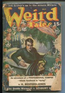 WEIRD TALES 07/1940-MARGARET BRUNDAGE-SEABURY QUINN-ROBERT BLOCH-pr/fr
