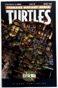 Teenage Mutant Ninja Turtles 50 NM Comic  (1992) City At War  Mirage Publishing