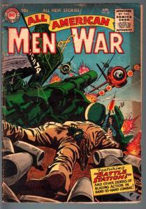 ALL AMERICAN MEN OF WAR #32-RUSS HEATH-GRANDENETTI ART-NAZI FIGHT-DC-1956-G G-