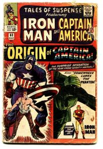 TALES OF SUSPENSE #63 comic book 1965-IRON MAN/CAPTAIN AMERICA-MARVEL-ORIGIN