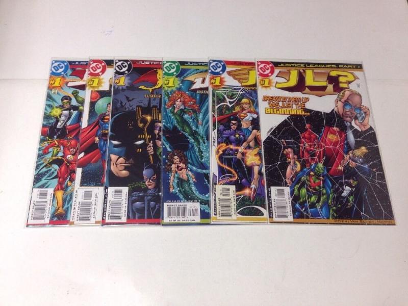 Justice Leagues 1-6 Complete Near Mint Lot Set Run
