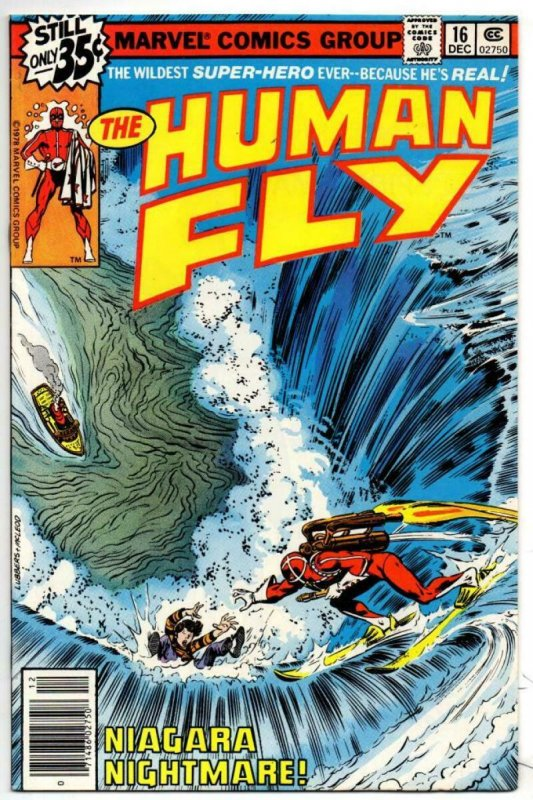 HUMAN FLY #16, VF/NM, Niagara Falls, 1977 1978, Bronze age, more Marvel in store