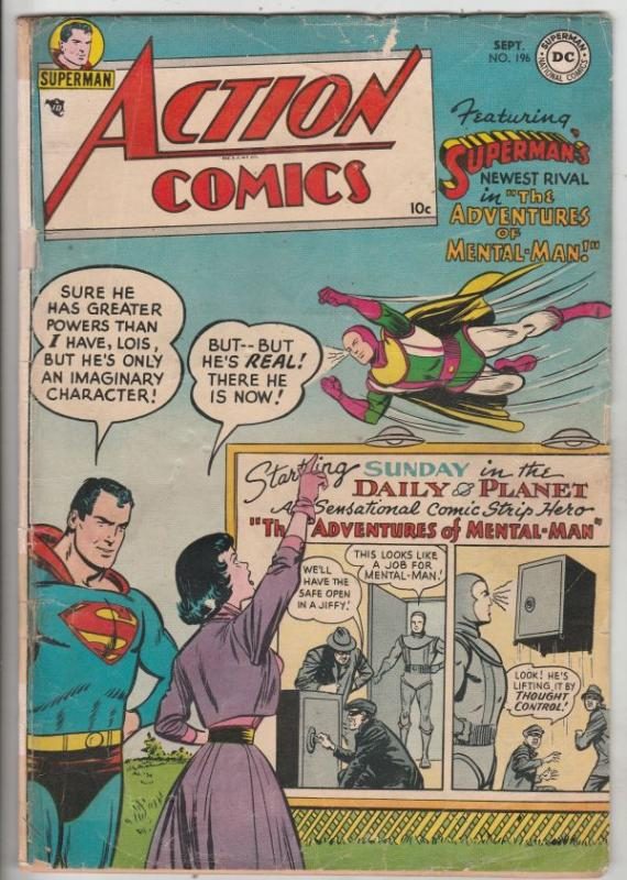 Action Comics #196 (Sep-54) VG+ Affordable-Grade Superman