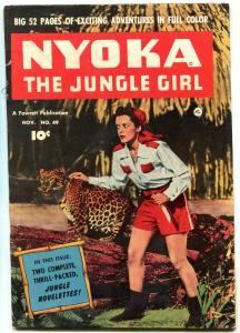 Nyoka The Jungle Girl  #49 1950- Fawcett Golden Age-Kay Aldridge cover FN-