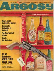Argosy 9/1966-Alistair MacLean pulp fiction-swimsuit pix-Mafia-FN
