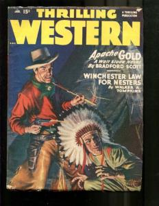 THRILLING WESTERN-1948-JAN-LOUIS L'AMOUR-INDIAN CHIEF ! VG+
