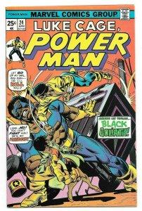 Power Man #24 VF+ Key Issue Intro. Black Goliath Marvel Comic Luke Cage 1975
