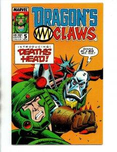 Dragon's Claws #5 - 1st Death's Head - Marvel - 1988 - (-VF)