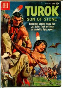 Turok Son Of Stone #19 1960-Dell-pre-historic Indians-dinosaur-VG-
