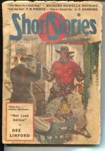 Short Stories 12/25/1948-Benton Clark western cover-Santa Claus Patrol-VG