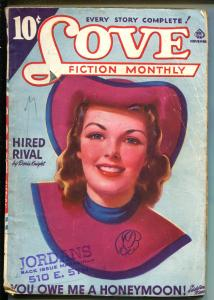 Love Fiction Monthly 11/1941-Ace-pin-up girl pulp cover-romance stories-VG
