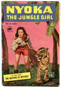 Nyoka The Jungle Girl  #43 1950- Fawcett Golden Age-Kay Aldridge cover VG