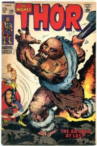 Thor #159 1968- Origin issue- Marvel Silver Age VG/FN