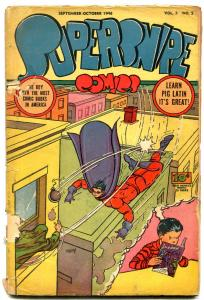 Supersnipe Vol. 3 #5 1946- Golden Age Shadow cover FAIR