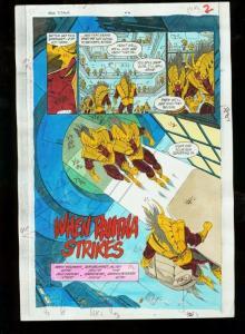 NEW TITANS #74-DC COLOR GUIDES PROD. ART