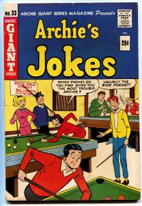 ARCHIE GIANT SERIES #33 1965-BILLIARDS/POOL COVER-JUGHEAD-BETTY VERONICA