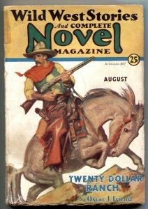 Wild West Stories & Complete Novel Pulp August 1931-  G