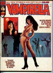 Vampirella #34 1974-Warren-Vampi cover-horror-mystery stories-color insert-VG+