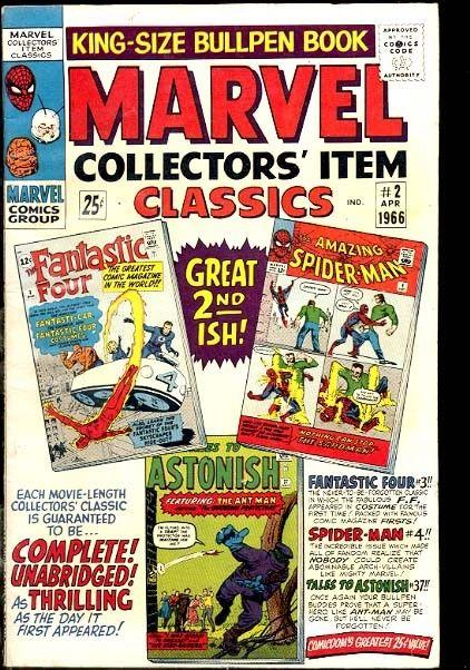MARVEL COLLECTORS' ITEM CLASSICS #2 KIRBY DITKO SPIDER VG/FN