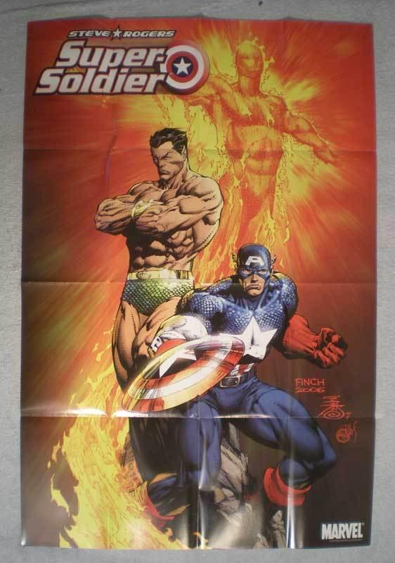 SUPER SOLDIER Promo Poster, Captain America, 24x36, Unused, more in store