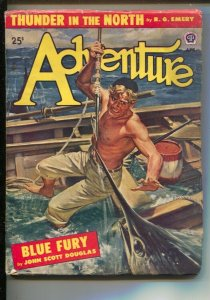 Adventure 4/1948-Popular-Swordfish attack cover by Peter Stevens-Thunder In ...