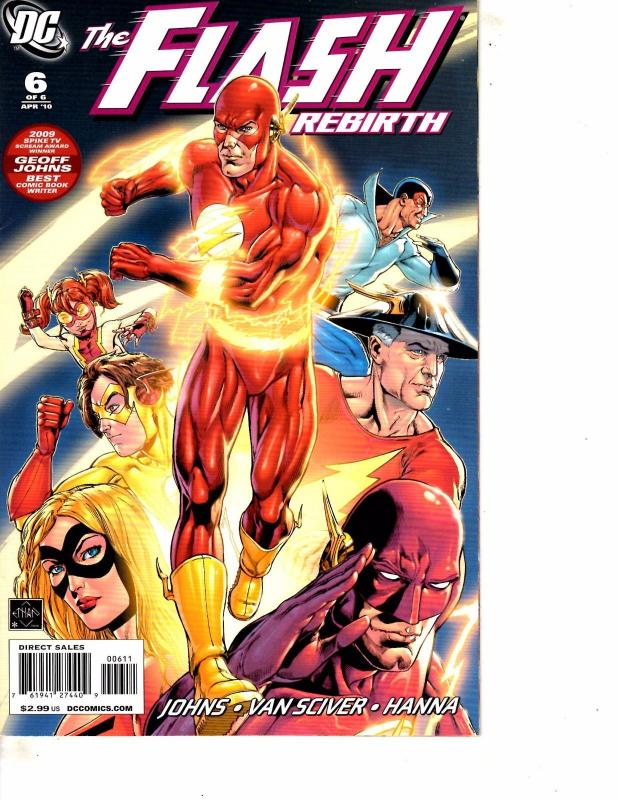 Lot Of 2 DC Comic Book Flash Rebirth #6 and SuperHeroes Stampalbum #1 MS22