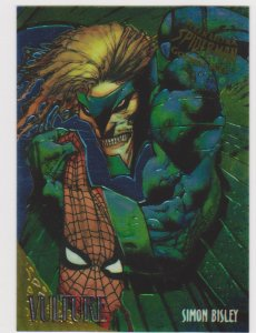 1995 Fleer Ultra Spider-Man Gold Web #9 Vulture/Simon Bisley