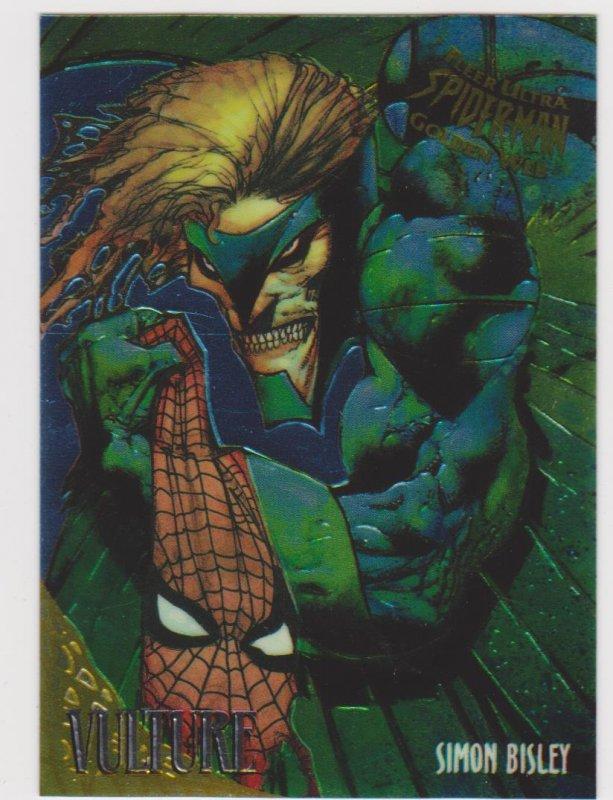 1995 Fleer Ultra Spider-Man Gold Web #9 Vulture/Simon Bisley
